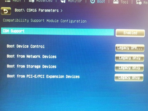 Boot\ CSM16 Parameters Compatibility Support Module Configuration